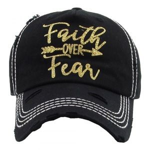 Faith over fear adjustable baseball cap